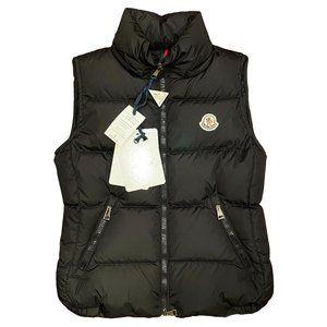 Moncler Black Down Puffer Vest Size 0